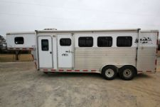 #28381 - Used 2004 Exiss ES400LQ 4 Horse Trailer  with 4' Short Wall