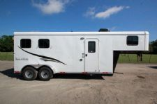 #05162 - New 2015 Bison 7260LQ Dixie Renegade 2 Horse Trailer  with 6' Short Wall