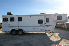 #06466 - Used 2004 Bison 7380GLQ 3 Horse Trailer  with 8' Short Wall