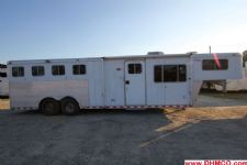 #91904 - Used 1999 Sooner 8410LQ 4 Horse Trailer  with 10' Short Wall