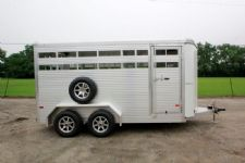 #B1588 - New 2015 Sundowner Stockman16BP Stock Trailer