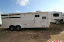 #10550 - Used 2008 Elite 309LQ 3 Horse Trailer  with 9' Short Wall