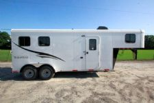 #05349 - New 2015 Bison 7260LQ Dixie Renegade 2 Horse Trailer  with 6' Short Wall