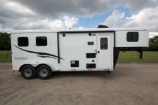 #05170 - New 2015 Bison Trail Hand 7206LQ S 2 Horse Trailer  with 6' Short Wall
