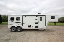 #05175 - New 2015 Bison Trail Boss 7208LQ 2 Horse Trailer  with 8' Short Wall
