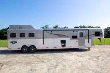 #05189 - New 2015 Bison Silverado 8316GLQ  Super Glide 3 Horse Trailer  with 16' Short Wall