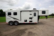 #05377 - New 2015 Bison Trail Hand 7206LQ S 2 Horse Trailer  with 6' Short Wall