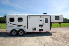 #05379 - New 2015 Bison 7206LQ Dixie Renegade 2 Horse Trailer  with 6' Short Wall