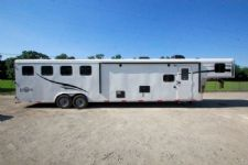 #05378 - New 2015 Bison Ranger 8414LQBK 4 Horse Trailer  with 14' Short Wall