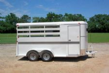#77114 - New 2015 Bee 3HBPSL 3 Horse Trailer  with 2' Short Wall