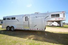 #09196 - Used 1996 4 Star 3HSLGN 3 Horse Trailer  with 10' Short Wall