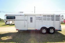 #28457 - Used 1997 World 2HSL 2 Horse Trailer  with 8' Short Wall