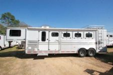 #A0682 - Used 1998 Sundowner 7406LQ 4 Horse Trailer  with 6' Short Wall