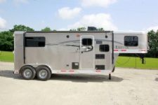 #00297 - New 2016 Lakota Lakota Charger 7207LQ 2 Horse Trailer  with 7' Short Wall