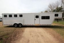 #78314 - Used 2005 Featherlite 8414LQ 4 Horse Trailer  with 14' Short Wall