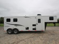 #05157 - New 2015 Bison 7208LQ Dixie Renegade 2 Horse Trailer  with 8' Short Wall