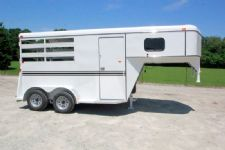 #77113 - New 2015 Bee 2HSLGN 2 Horse Trailer  with 2' Short Wall