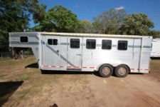 #58068 - Used 1999 Southern Classic 406 Weekender LQ 4 Horse Trailer  with 6' Short Wall