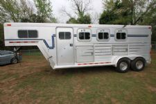 #14379 - Used 1999 Barrett 7304GNSL 3 Horse Trailer  with 4' Short Wall