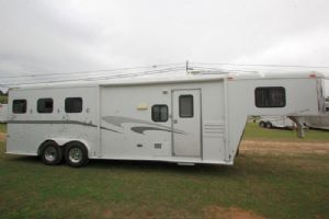 #10449 - Used 2004 Charmac 8380LQ 3 Horse Trailer  with 8' Short Wall