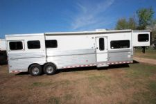 #A5093 - Used 2008 Sundowner Sunlite 720 Sierra 8313LQ 3 Horse Trailer  with 13' Short Wall