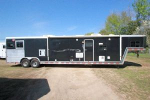 #51231 - Used 2003 Hart 8216LQ 2 Horse Trailer  with 16' Short Wall