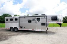 #00405 - New 2016 Lakota Charger 8311LQ 3 Horse Trailer  with 11' Short Wall