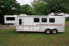 #03137 - Used 2005 Silver Star 7380LQ 3 Horse Trailer  with 8' Short Wall