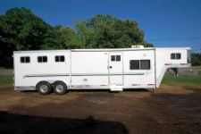 #06408 - Used 2002 Exiss 8313LQ 3 Horse Trailer  with 13' Short Wall