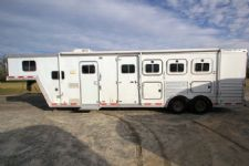 #41720 - Used 2001 Featherlite 8410LQ 4 Horse Trailer  with 10' Short Wall
