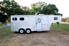 #38165 - Used 2006 Exiss ES207GLQ 2 Horse Trailer  with 7' Short Wall