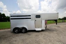 #B2108 - New 2015 Sundowner SS3HGN 3 Horse Trailer  with 2' Short Wall