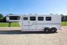 #32062 - Used 1999 Silver Star Starlite 3 Horse Trailer  with 4' Short Wall