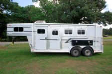 #75278 - Used 2002 Elite 7340 Lineshack LQ 3 Horse Trailer  with 4' Short Wall