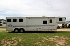 #05923 - Used 2003 Bison 8312 SE 3 Horse Trailer  with 12' Short Wall