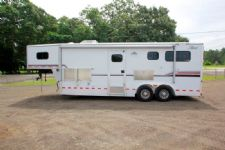 #23369 - Used 2007 Jamco 2HSL LQ 2 Horse Trailer  with 10' Short Wall