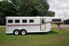 #15279 - Used 1992 Gore Slant Load 4 Horse Trailer  with 2' Short Wall
