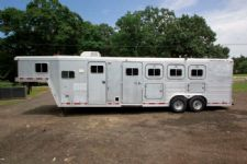#14779 - Used 1996 Featherlite 4HSLGN 4 Horse Trailer  with 8' Short Wall