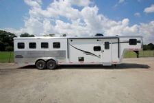 #05480 - New 2015 Bison Laredo 7410GLQ 4 Horse Trailer  with 10' Short Wall