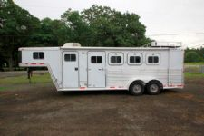 #27097 - Used 2000 Featherlite 7440LQ 4 Horse Trailer  with 5' Short Wall