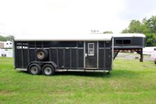 #22008 - Used 1996 Adam 3HSLGN 3 Horse Trailer  with 6' Short Wall