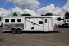#05709 - New 2016 Bison Laredo 7310GLQ 3 Horse Trailer  with 10' Short Wall