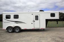 #05710 - New 2016 Bison 7206LQ Dixie Renegade 2 Horse Trailer  with 6' Short Wall