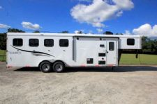 #05714 - New 2016 Bison Trail Hand 7406LQ S 4 Horse Trailer  with 6' Short Wall