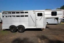 #00857 - Used 1995 Cherokee 3HSLGN 3 Horse Trailer  with 2' Short Wall