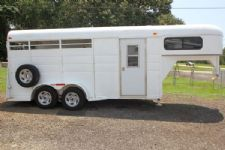 #01759 - Used 2003 Longhorn 3HSLGN 3 Horse Trailer  with 2' Short Wall
