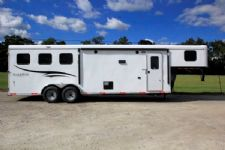 #05734 - New 2016 Bison Trail Hand 7310LQ 3 Horse Trailer  with 10' Short Wall