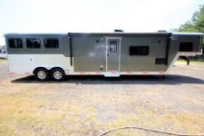 #31406 - Used 2014 Merhow 8314GLQ 3 Horse Trailer  with 14' Short Wall