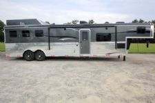 #05597 - New 2016 Bison Ranger 8314GLQSD 3 Horse Trailer  with 14' Short Wall