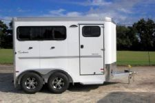 #B2684 - New 2016 Sundowner SPORTMAN2HBP 2 Horse Trailer  with 2' Short Wall